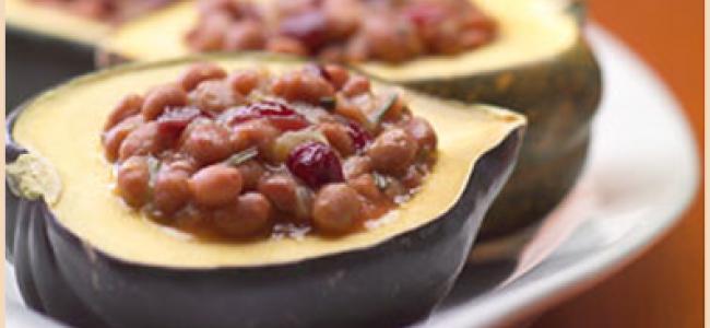 Maple Bean Stuffed Acorn Squash