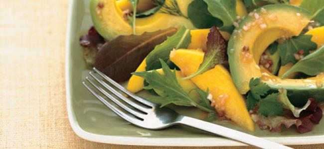 Avocado and Mango Salad w/ Passion Fruit Vinaigrette